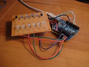 Testing iR sensor configuration on proto board